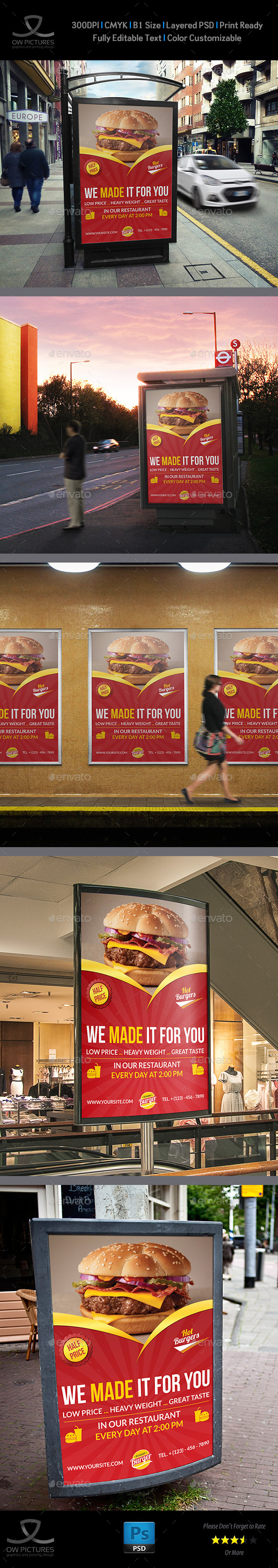 GraphicRiver Burger Restaurant Poster Template Vol.3 11012399