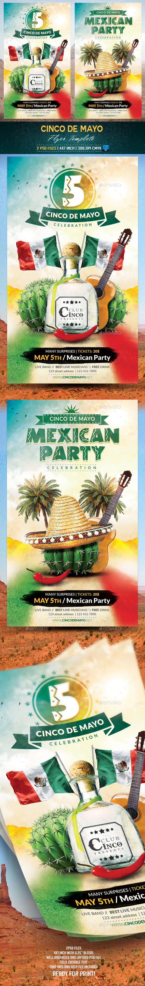 GraphicRiver Cinco de Mayo Flyer Template v2 11012493