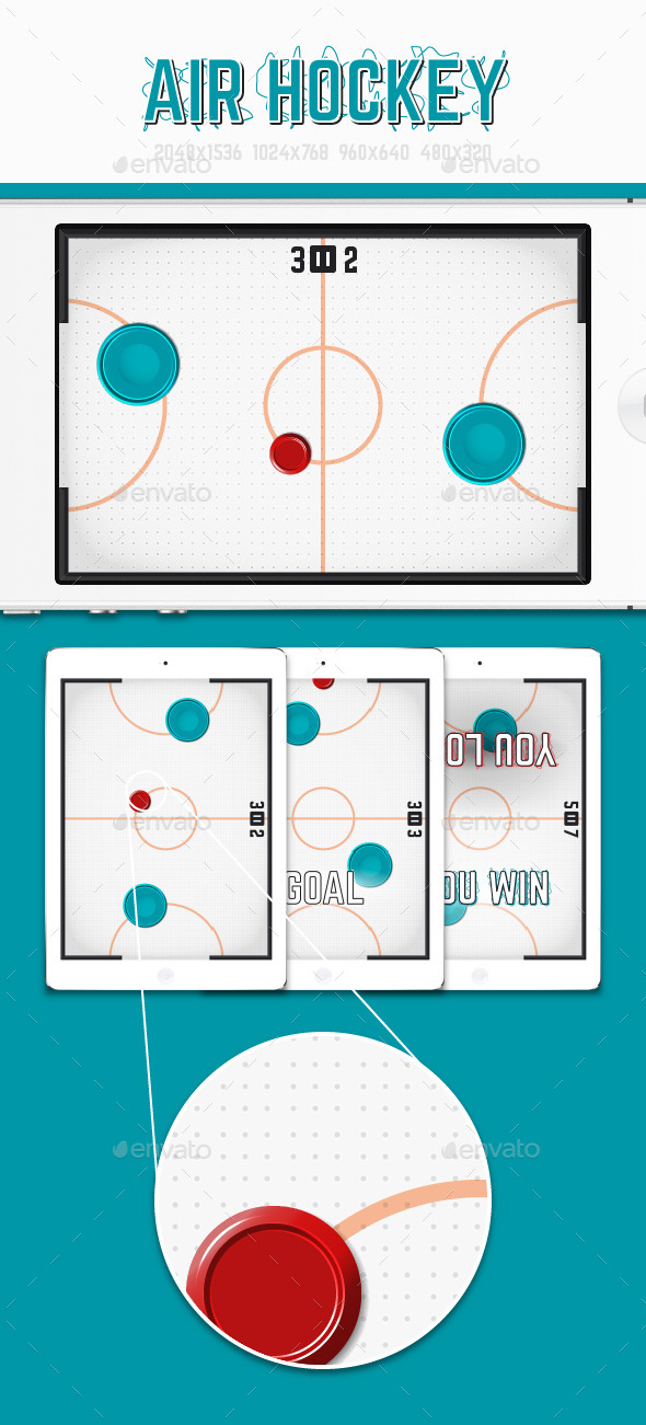 GraphicRiver Air Hockey Game Asset 11012591