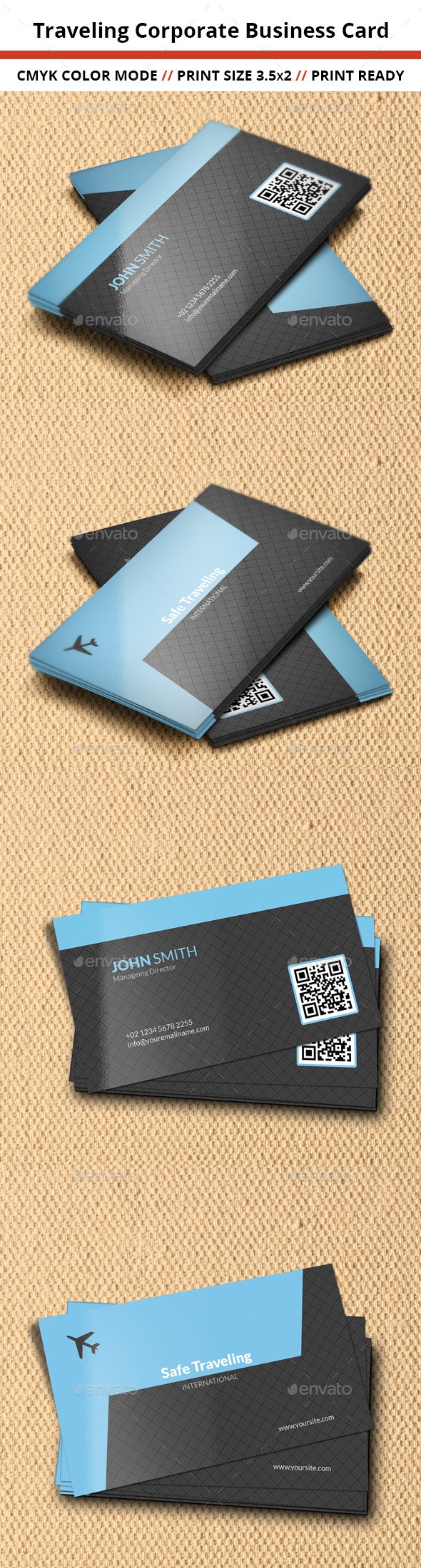 GraphicRiver Traveling Corporate Business Card 10945938