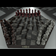 Chessboard for Three Players and Pieces - 3DOcean Item for Sale