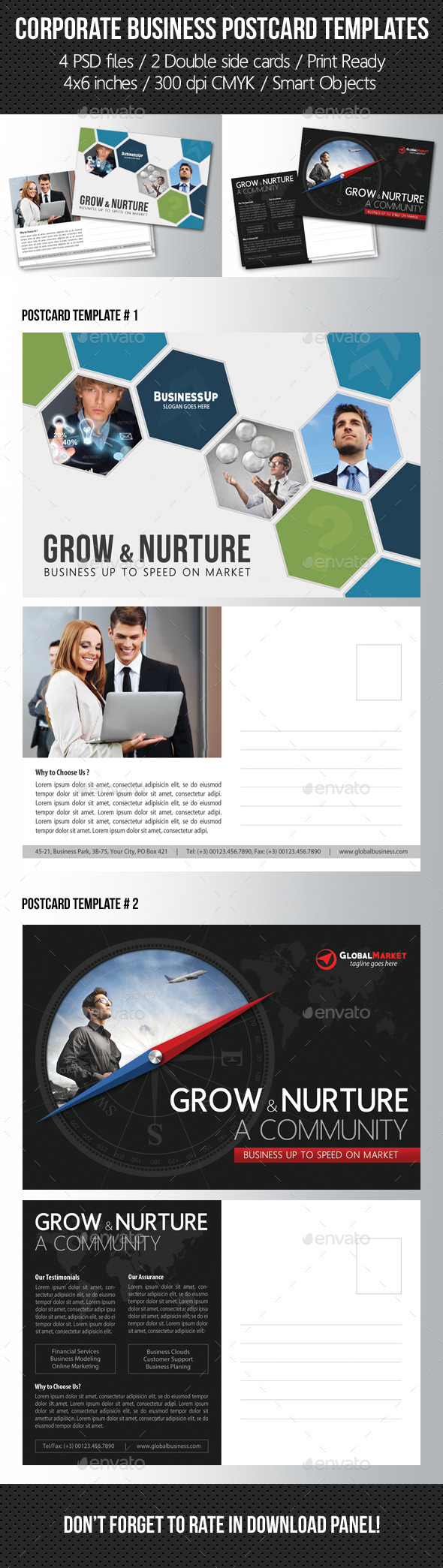 GraphicRiver Corporate Business Postcard Template Pack 11013662