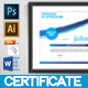 Modern Certificate - GraphicRiver Item for Sale