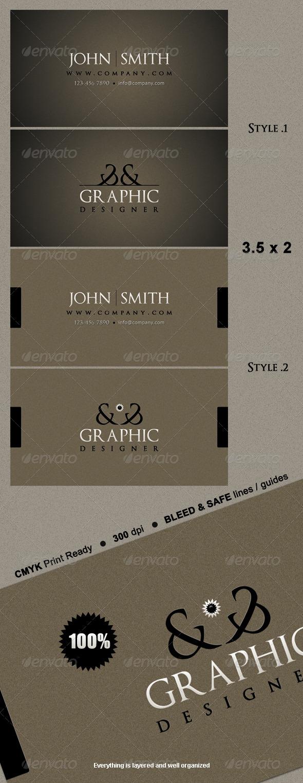 Elegant Business Card - Retro/Vintage Business Cards