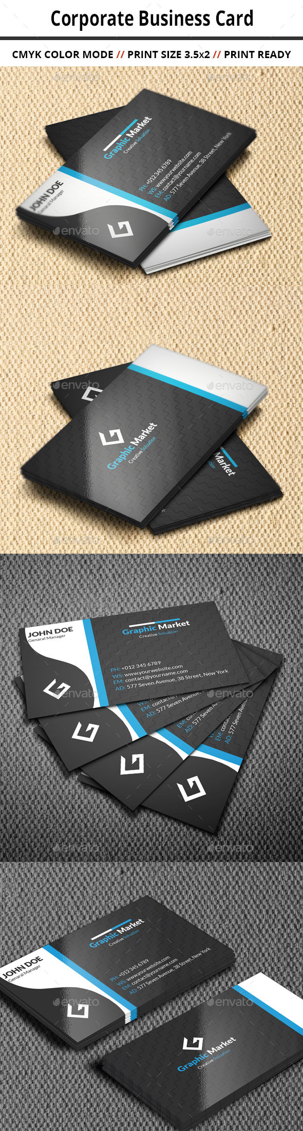 GraphicRiver Corporate Business Card 11015619