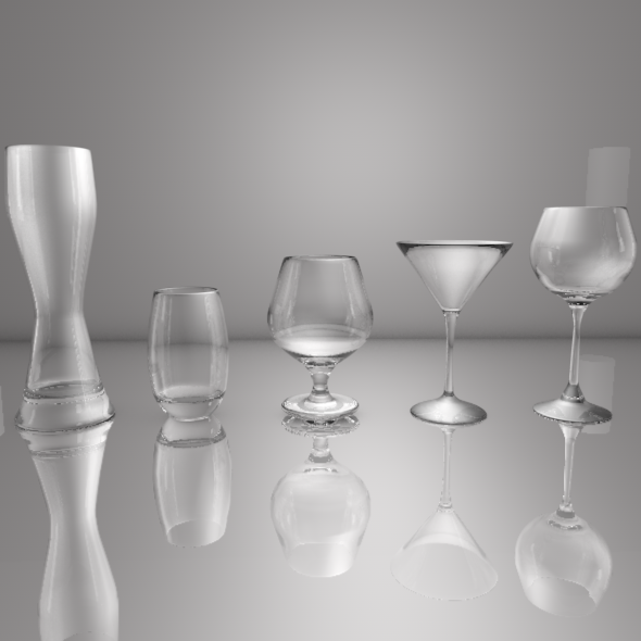 3DOcean Wine Glasses 11015643