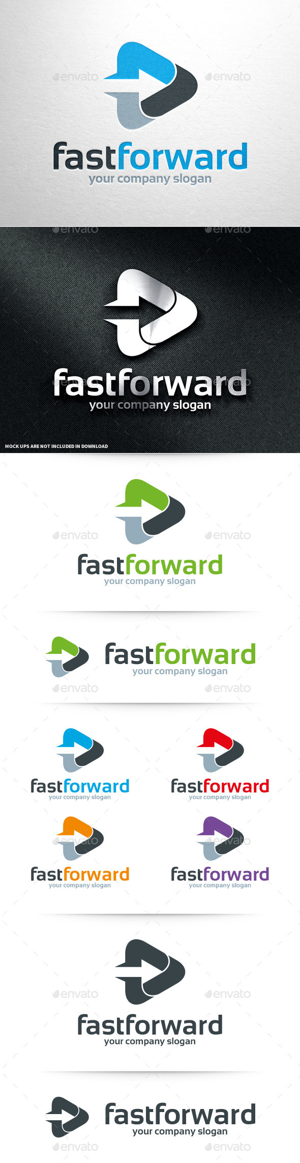 GraphicRiver Fast Forward Logo Template 11015695