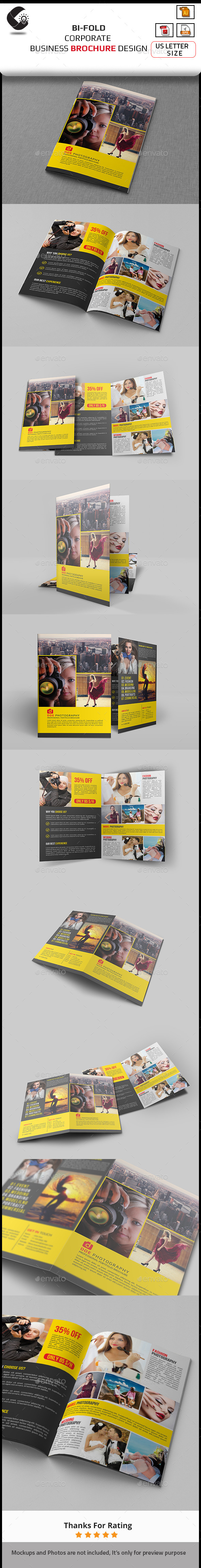 GraphicRiver Photography Bi-Fold Brochure 11015707