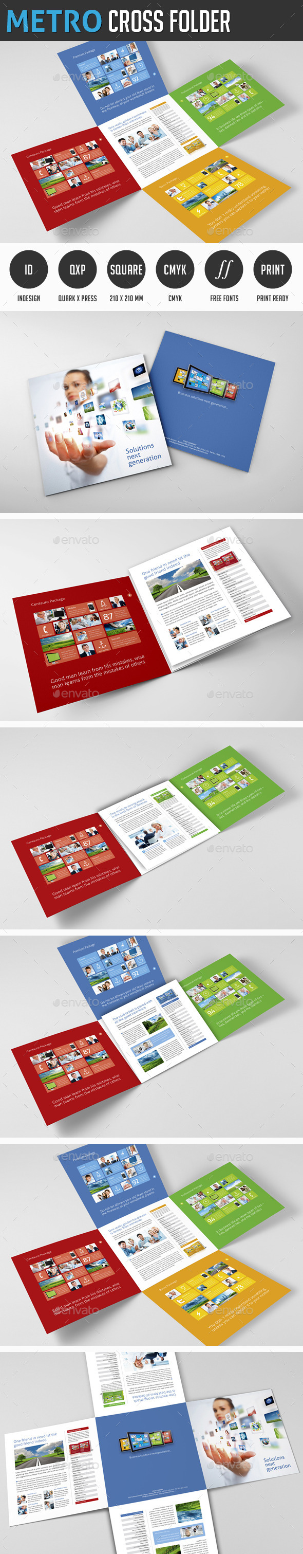Metro Cross Folder - Corporate Flyers