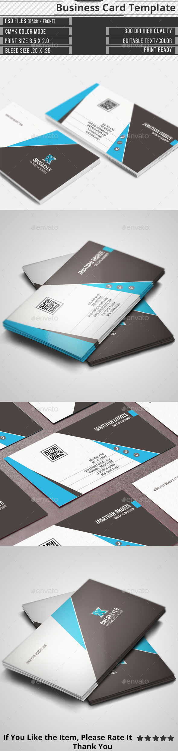 GraphicRiver Corporate Business Card 11015714