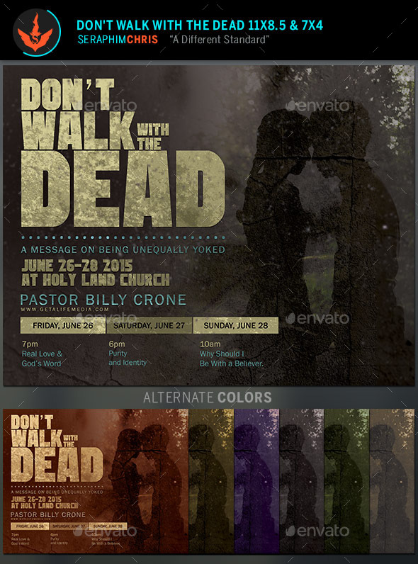 GraphicRiver Don t Walk With The Dead Church Flyer Template 11016148
