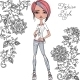 Fashion Hipster Girl - GraphicRiver Item for Sale