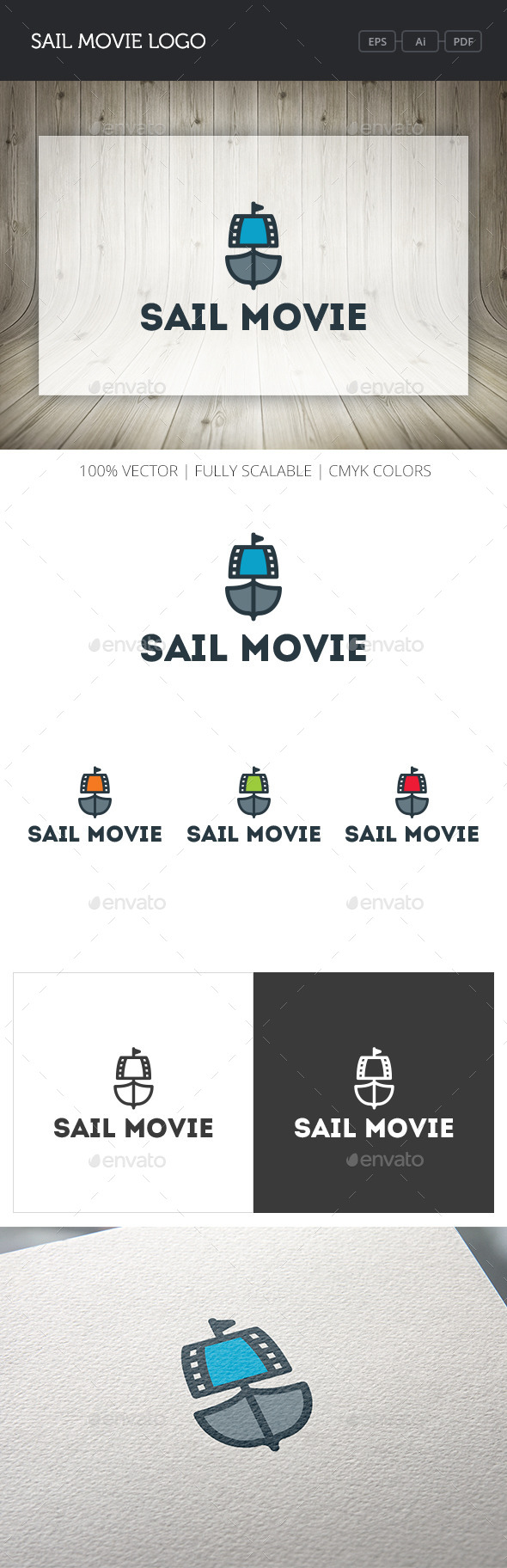 GraphicRiver Sail Movie Logo 11016234