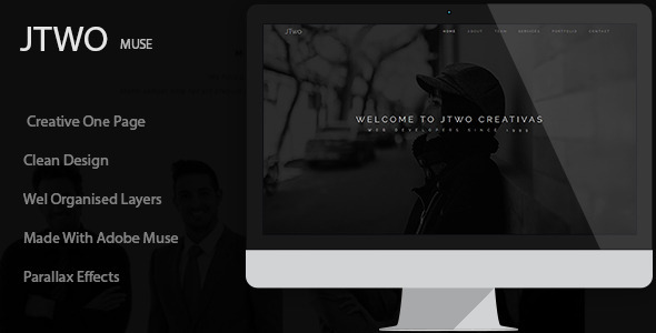 ThemeForest Jtwo Muse Template 11016285