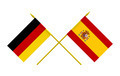Flags of Germany and Spain, 3d Render, Isolated - PhotoDune Item for Sale