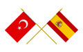 Flags of Spain and Turkey, 3d Render, Isolated - PhotoDune Item for Sale
