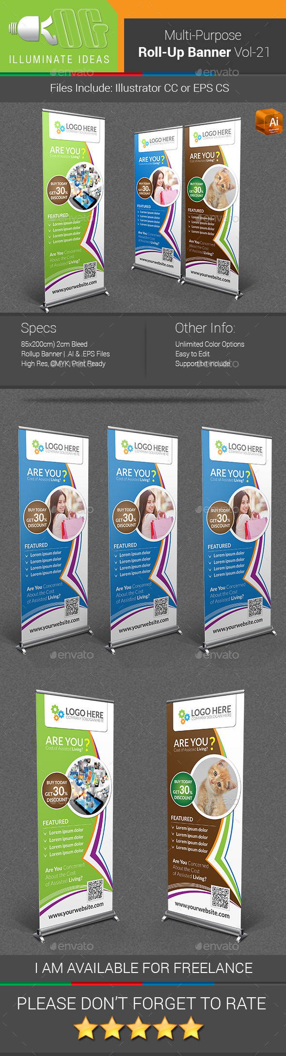 GraphicRiver Multipurpose Business Roll-Up Banner Vol-21 11016376