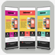 Mobile App Roll Up Banners Template Bundle - GraphicRiver Item for Sale
