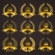 Luxury Gold Labels with Laurel Wreath - GraphicRiver Item for Sale