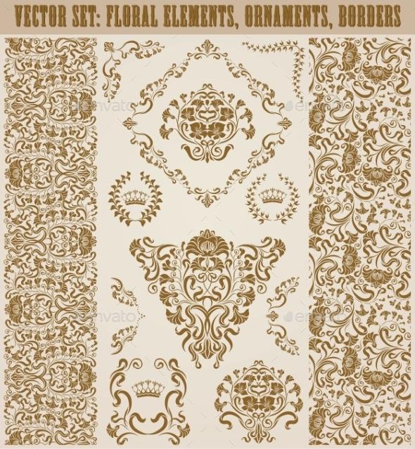 GraphicRiver Set of Damask Ornaments 11016448