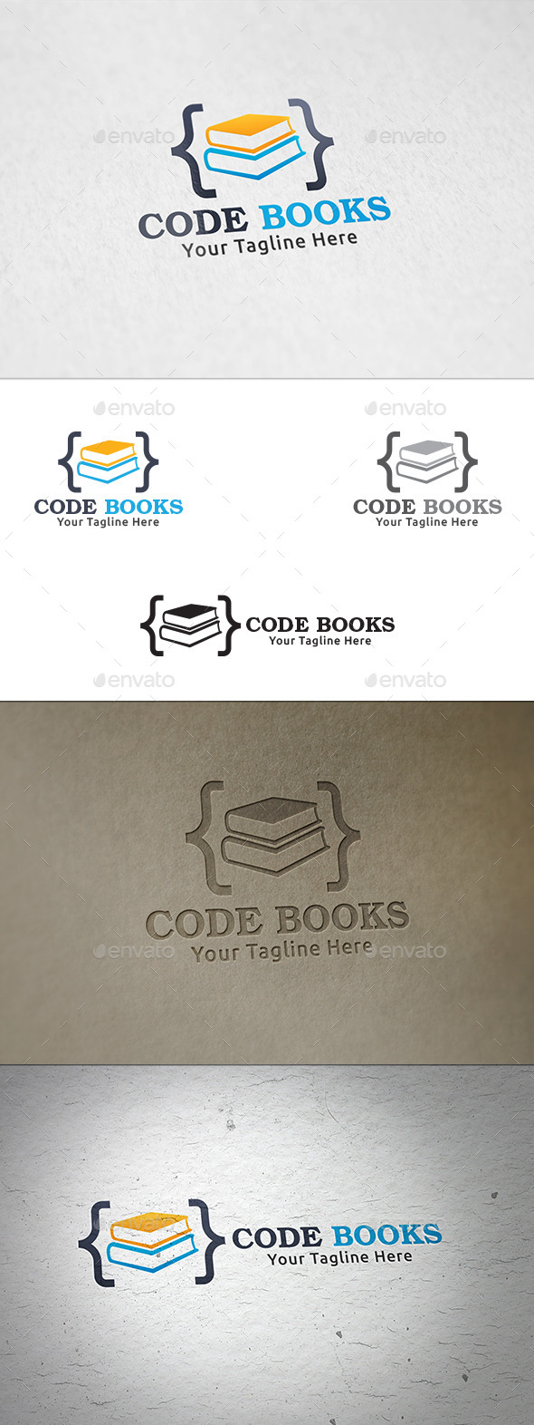 Code Books - Logo Template