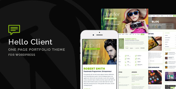 Hello Client - One Page Portfolio Theme for WordPress