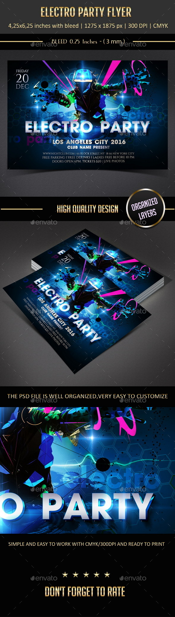 GraphicRiver Electro Party Flyer 11017200