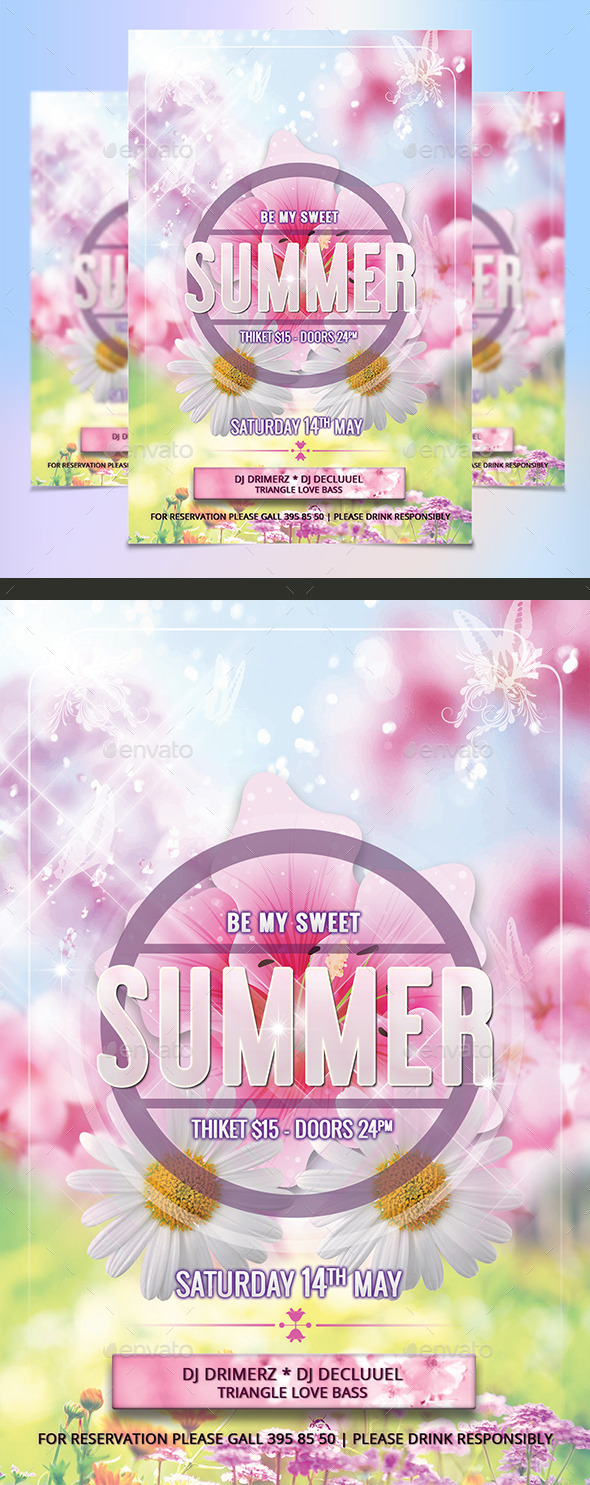 GraphicRiver Summer Flyer 11017213