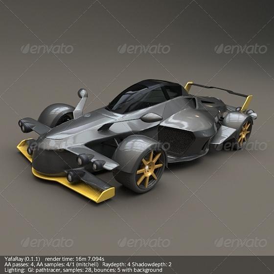 Tramontana R supercar - 3DOcean Item for Sale