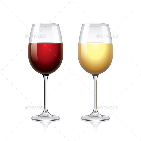 GraphicRiver Glasses of Wine 11017253