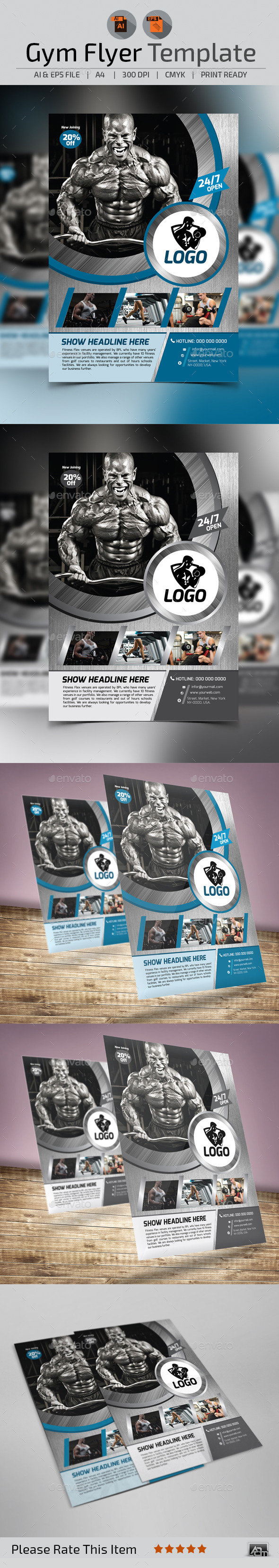 GraphicRiver Fitness Gym Flyer Template 11017339