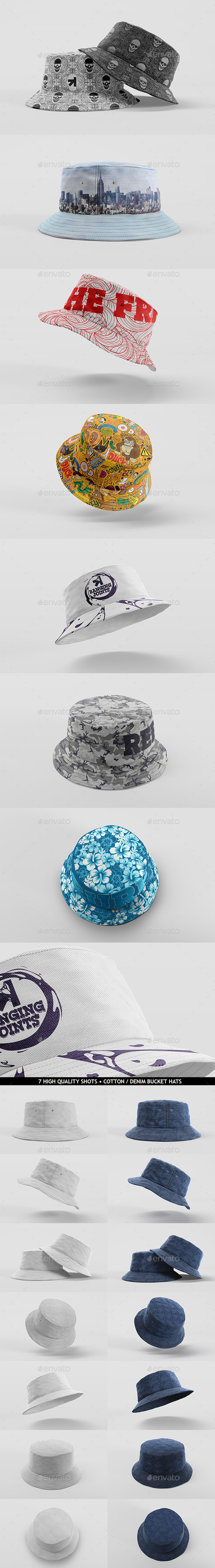 GraphicRiver Bucket Hat Mockup Pack 11017413