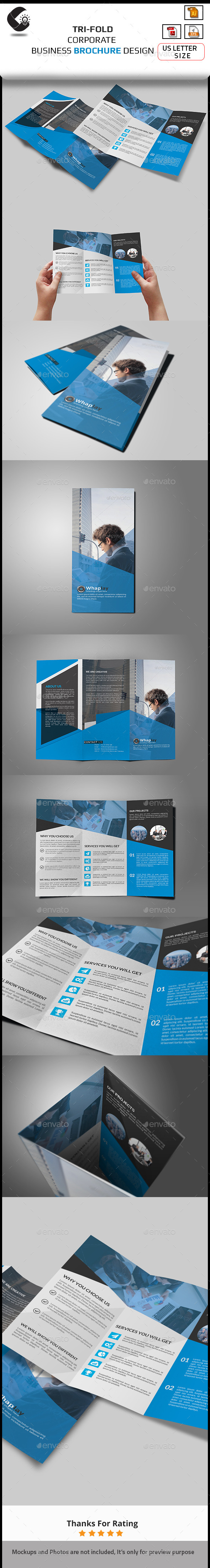 GraphicRiver Corporate Tri-fold Brochure-Multipurpose 11017430