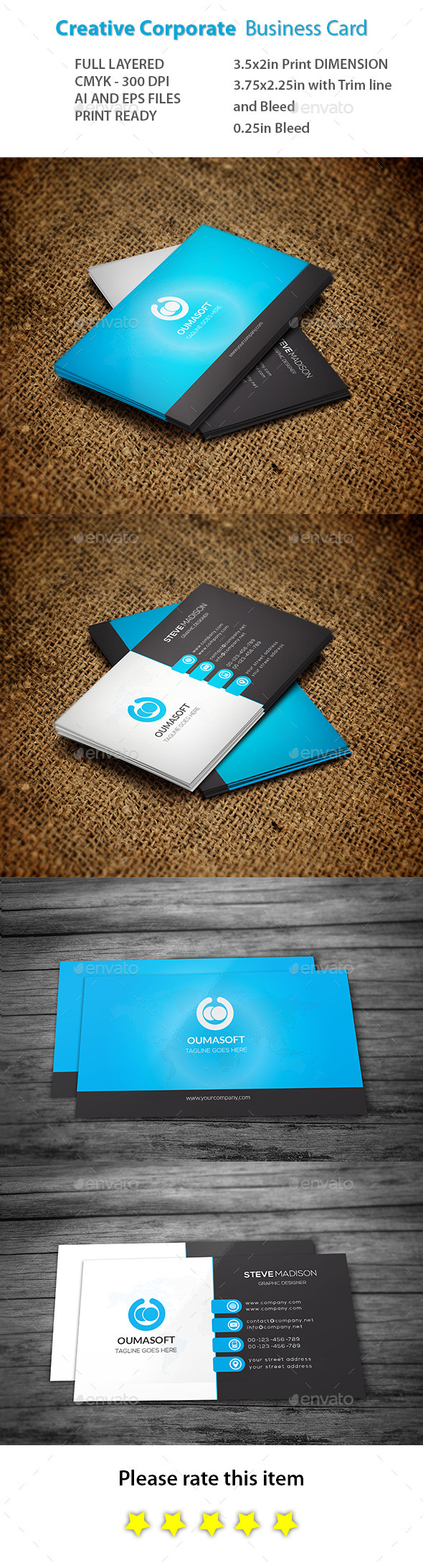 GraphicRiver Creative Corporate Business Card 11017549