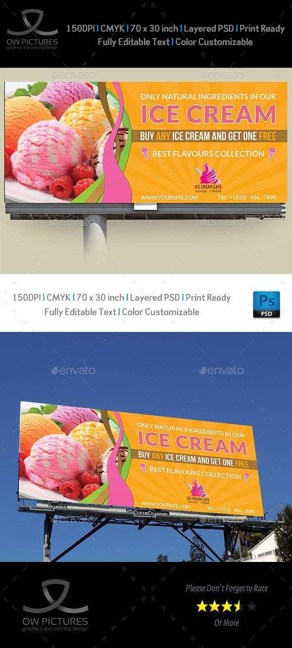 GraphicRiver Ice Cream Billboard Template Vol.3 11017567