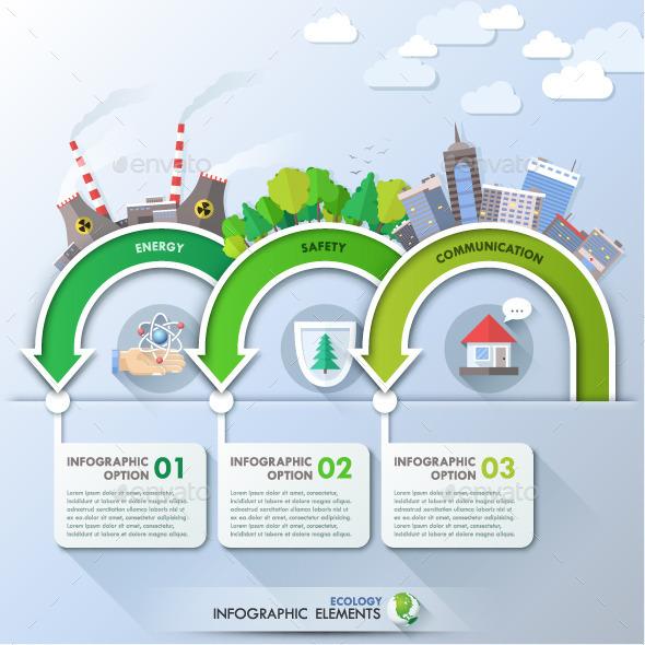 GraphicRiver Eco Infographic Template 11017595