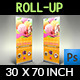 Ice Cream Roll-up Signage Banner Template Vol.3 - GraphicRiver Item for Sale