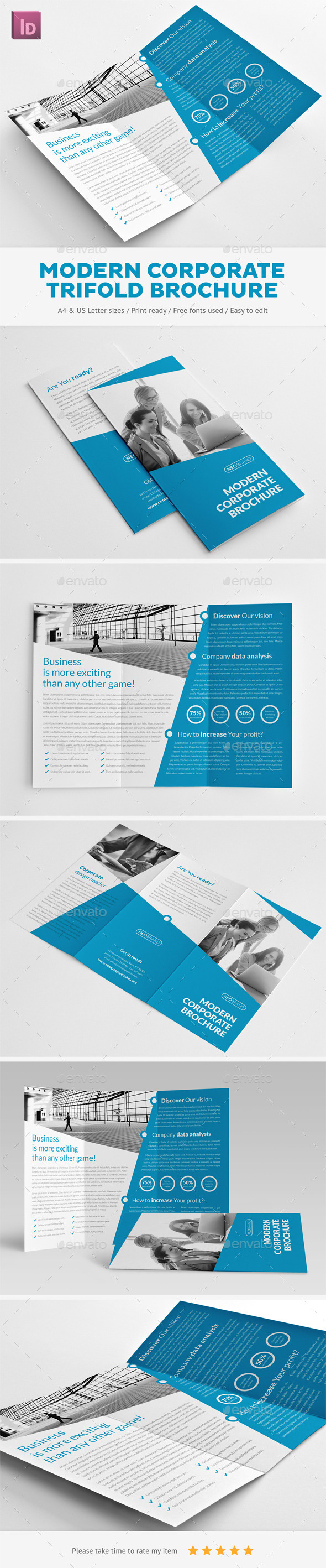 GraphicRiver Modern Corporate Trifold Brochure 11017674