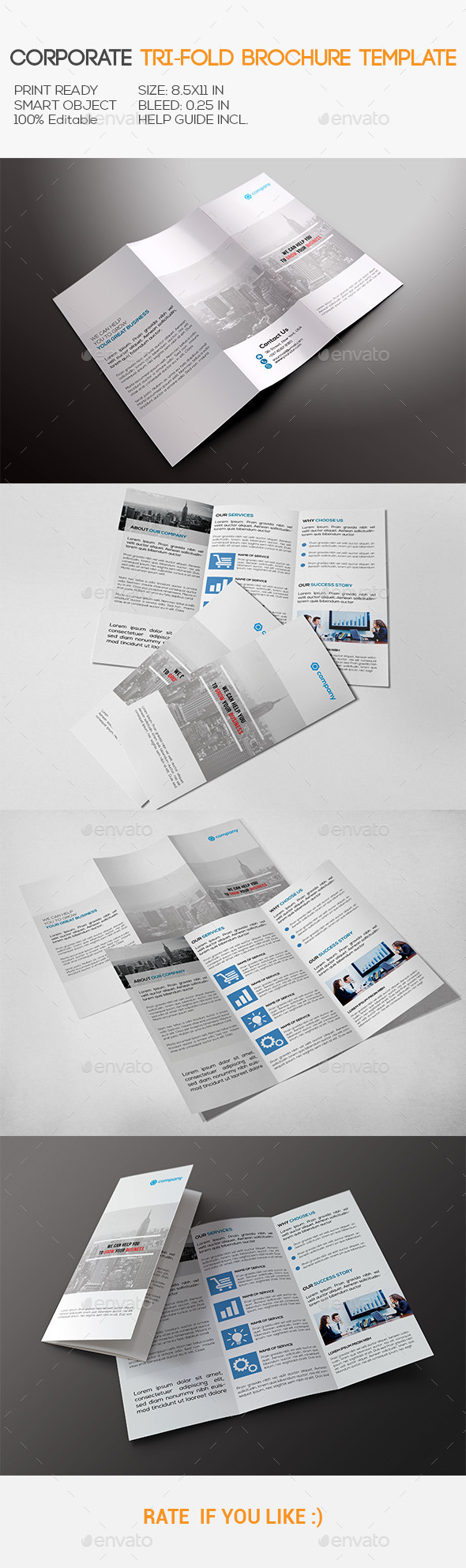 GraphicRiver Corporate Tri-Fold Brochure 11017715