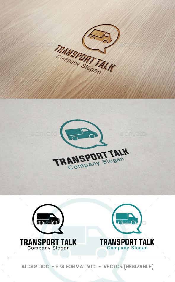 GraphicRiver Transport Talk Logo 11017961