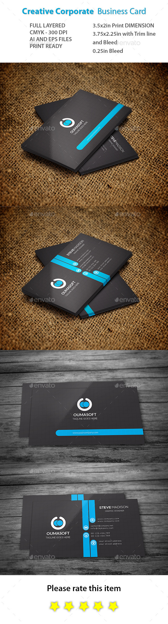 GraphicRiver Creative Corporate Business Card 11018148