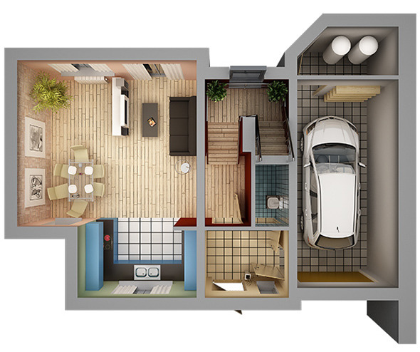 3DOcean Home Interior Floor Plan 01 11018188