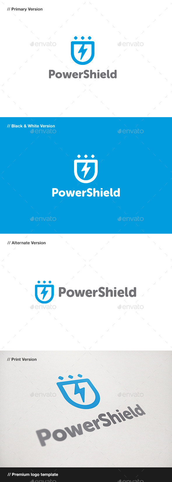 GraphicRiver Power Shield Logo 11018384