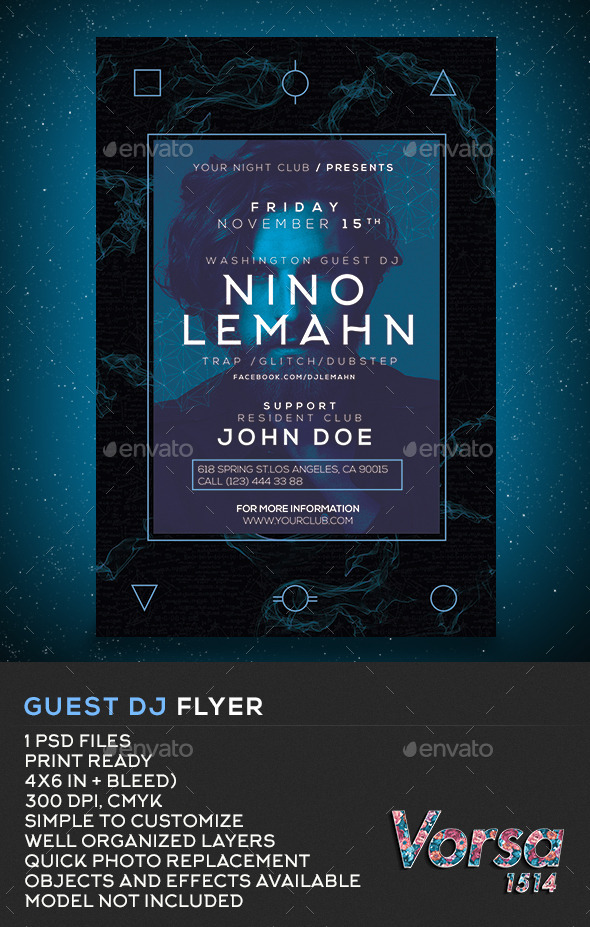 GraphicRiver Guest DJ Flyer 11018479