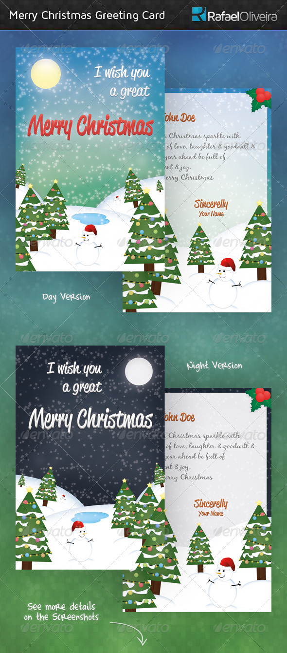 Merry Christmas Greeting Cards - Holiday Greeting Cards