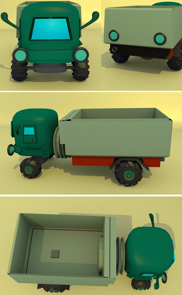 3DOcean Little Truck 11019060