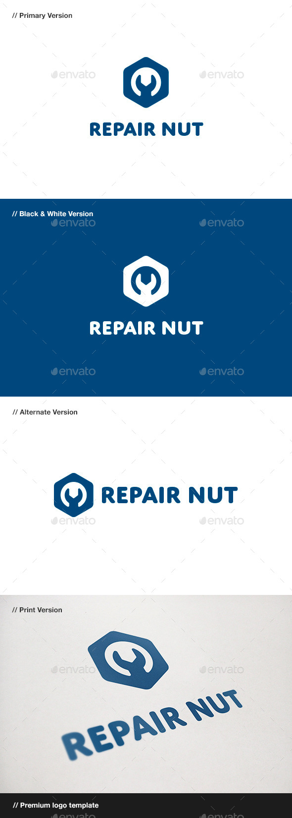 GraphicRiver Repair Nut Logo 11019159