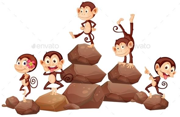 GraphicRiver Monkeys and Rocks 11019737