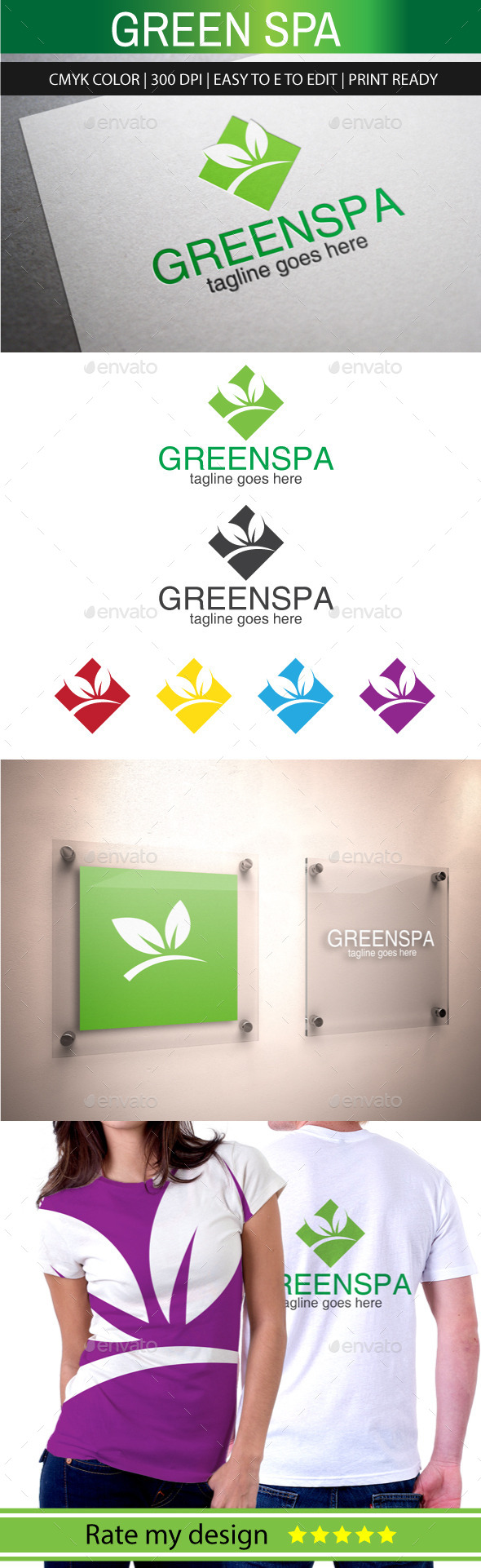 GraphicRiver Green Spa Logo 11019745