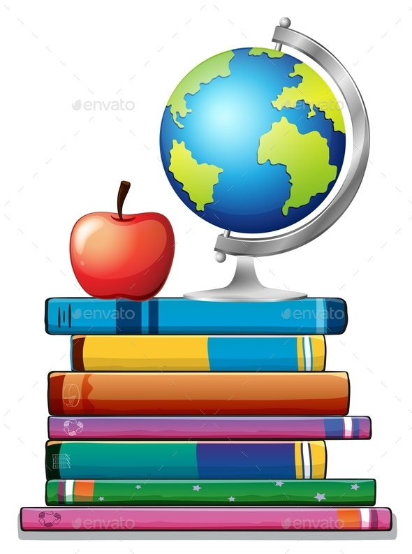 GraphicRiver Books and Globe 11020029